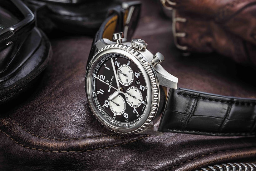 Breitling watch with leather strap